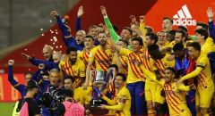 برشلونة يكتسح أتلتيك بيلباو ويتوج بلقب بطل كأس ملك إسبانيا