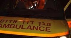 اصابة شاب بحادث بين دراجة وسيارة في نوف هجليل