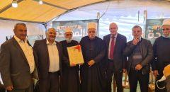 وفد من الطائفة الدرزية يقدم التهاني لمنصور عباس ومازن غنايم من القائمة الموحدة