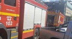 اندلاع حريق بمحل للملابس في ديرحنا