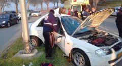 نوف هجليل: اصابة خطرة لشاب في حادث طرق