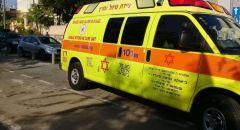 حادث طرق بين سيارتين في القدس