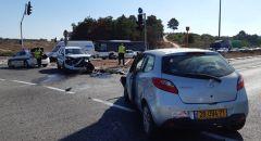 حادث طرق خطير على مفرق (سومخ) وعدة إصابات من بينها اصابتين خطيرتين