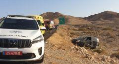 تخليص عالق اثر حادث طرق على شارع رقم 258 - مفرق حتروريم في الجنوب