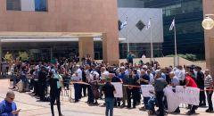 وقفة احتجاجية امام محكمة بئر السبع رفضًا لإعتقال الطلاب الجامعيين خلال المواجهات في جامعة بن غوريون