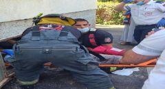 حيفا: تخليص عامل بعد إصابته بحادث عمل