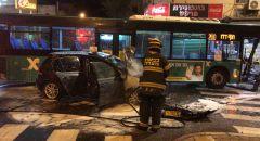 حيفا: 3 اصابات في حادث طرق بين حافلة وخصوصية