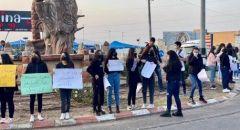 وقفة احتجاجية في عرابة ضد العنف والجريمة في المجتمع العربي وتواطؤ الشرطة