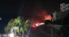 سخنين: اندلاع حريق بمنطقة العين ويقترب من البيوت