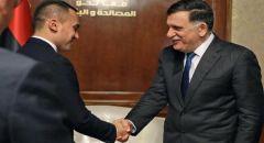 دي مايو للسراج: نرفض التدخلات الخارجية في ليبيا ولا بد من العودة للمسار السياسي