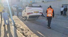 رهط اصابة شاب (24 عامًا) بجراح إثر انقلاب سيارة