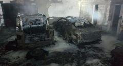 اندلاع النيران داخل سيارات في عرعرة فجر اليوم