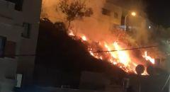 بالفيديو   دير حنا: شجار عنيف احراق بيوت وسيارات واطلاق نار