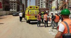اصابة عامل بجراح خطيرة دهسته شاحنة بورشة بناء في الرملة