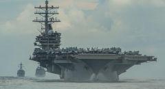 """مجموعة حاملة الطائرات الأمريكية """"رونالد ريغان"""" تدخل بحر الصين الجنوبي"""