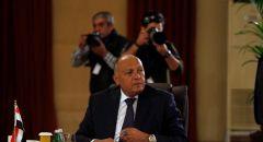 وزير الخارجية المصري يؤكد رفض بلاده  لأية إجراءات أحادية في القضية الفلسطينية