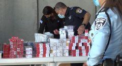 الشرطة تصادر علب سجائر بقيمة عشرات آلاف الشواقل بشبهة تهريبها لإسرائيل في بيت حنينا القدس