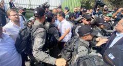 نواب المشتركة يقطعون طريق سموترتش وبن غفير ومناوشات مع الشرطة في حي الشيخ جراح