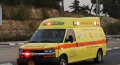 اصابة رجل متوسطة بعد تهرضه للدهس في رحوفوت