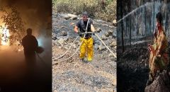 الجهود المكثّفة من أجل اخماد الحرائق والنيران في جبال القدس