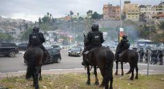 ام الفحم: مواجهات بين الشرطة والمتظاهرين واعتقال اربعة شبان
