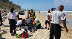حالة حرجة لرجل تعرض للغرق في احد شواطئ نتانيا