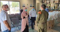 عضو الكنيست النائب ايمان خطيب تستقبل الطلاب العائدين من الأردن