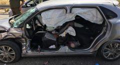 تخليص عالق جراء حادث طرق على شارع 465 قرب بلدة نيلي في منطقة الضفة الغربية