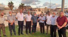 اللجان الشعبية في المثلث الشمالي تزور يافا لدعم نضال الأهالي لحماية مقبرة الاسعاف