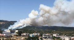 بيت جن : اندلاع حريق في منطقة احراش الزابود