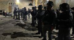 مواجهات عنيفة بين الشبان وقوات الشرطة في ساحات الاقصى