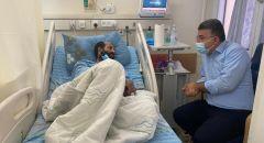 النائب جبارين يلتقي الأسير المضرب عن الطعام ماهر الأخرس في اليوم ال 65 لإضرابه