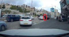 توثيق بالفيديو اطلاق النار في يافة الناصرة