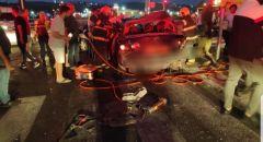 القدس : مصرع سيدة وشاب بحادث طرق مروع
