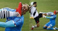 إصابة مروعة لحارس مرمى في الدوري البرازيلي