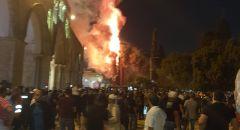 اندلاع حريق في مجمع المسجد الأقصى بالقدس