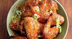 أجنحة الدجاج بالصلصة الآسيوية