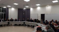 ام الفحم: اجتماع حاشد بعد احداث اليوم  للجنة المتابعة ورؤساء السلطات المحلية