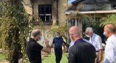 في أعقاب الحرائق: وفد الجبهة يلتقي مع رئيس بلدية نوف هجاليل ونائبه د. عواودة