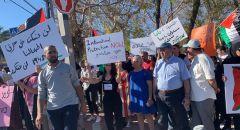 يافا:  تظاهرة ضد اعتداءات المستوطنين ونصرة لغزة بمشاركة واسعة