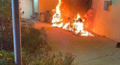 الشرطة تحقق بحادثة اضرام النار في دراجتين نارية التابعة للشرطة في كريات اتا