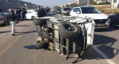 دير حنا: انقلاب مركبة و إصابة شخص بجروح خطيرة