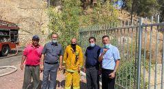 رئيس مجلس اكسال : نشكر المتطوعين الذين ساهموا بالسيطرة على الحريق