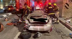 موديعين: مصرع شخص بانقلاب سيارة وسقوطها عن جسر