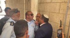 الشرطة تمنع عضو الكنيست اليميني المتطرف إيتمار بن جفير بمحاولة اقتحام المسجد الأقصى