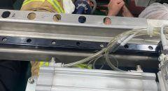 تخليص عامل علقت رجله  بماكنة في مصنع بكيبوتس مسريك