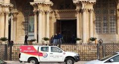 القدس ,,, اعتقال مشتبه بسكب مادة مشتعلة في الكنيسة الجثمانيّة