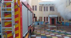 اندلاع حريق داخل مدرسة حسين الهواشلة الابتدائية في قصر السر بالنقب