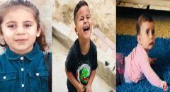 جماهير غفيرة تشيع جثامين الأشقاء الثلاثة ليلى وخالد وأبرار ضحايا الحريق في حورة