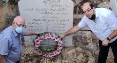 رئيس مجلس عيلبون يضع أكليل زهور على النصب التذكاري لمجزرة عيلبون وشهداء عرب المواسي